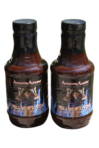 "Our original XXXtreme hot BBQ sauce called Blue Flame - if you have tried it you know its ""Crazy Hot"" itÕs the one you give to mates cause its toooo HOT for you!! This sauce has a cult like following those who LOVE HOT HOT HOT will keep coming back for more! It's truly a sauce with FLAVOR that has a hot cycle that builds and builds like no other."