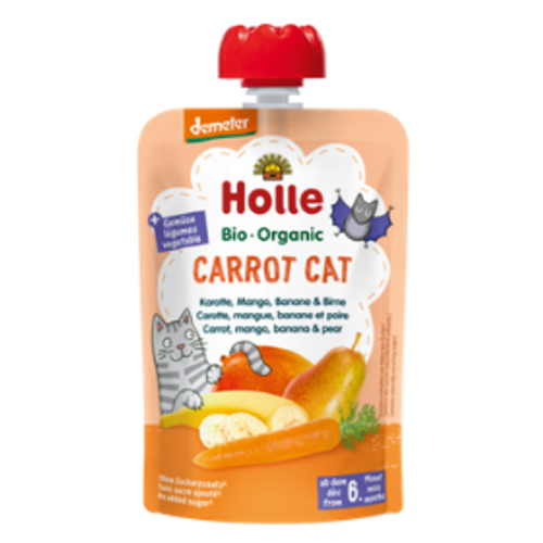 Holle Carrot Cat Organic Demeter Quality Baby Food Puree