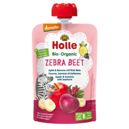 Zebra Beet Holle Pouch (apple & banana with beetroot)