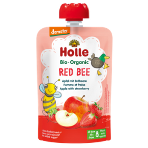Holle Red Bee apple with strawberry demeter quality organic baby food