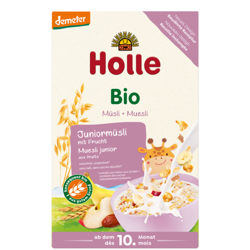 Holle Organic Junior Multigrain Muesli with Fruit. For babies 10 months and up. Local pick up and shipping/delivery available.