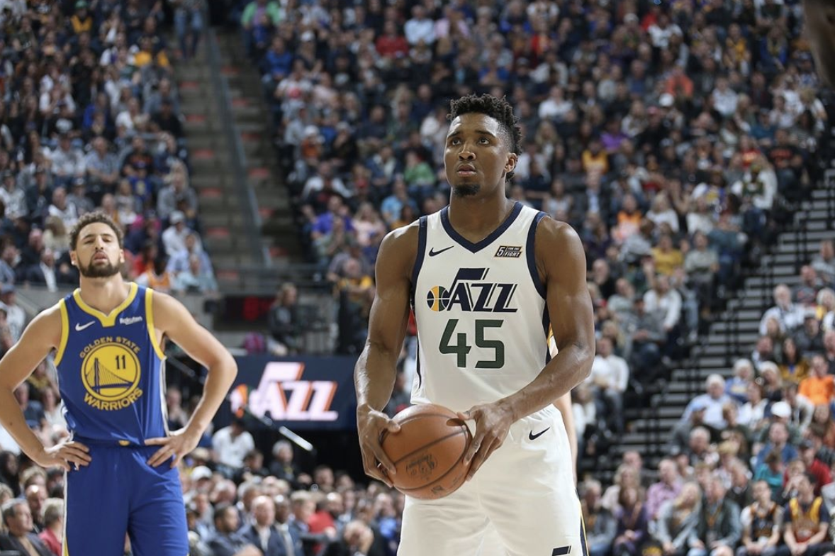 separation shoes 98d04 a69c2 Donovan Mitchell NBA and College Career Stats - Utah Jazz ...