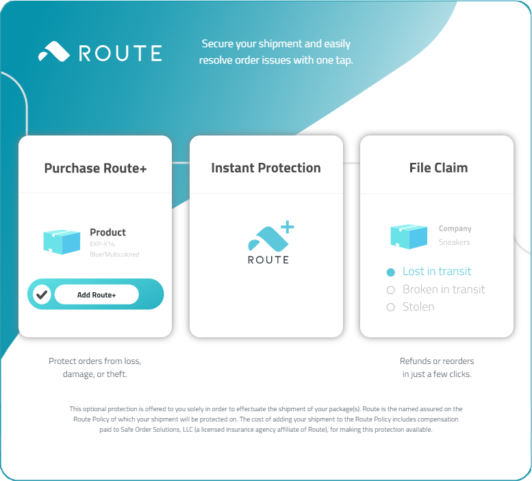 Route+ Shipping Insurance Info
