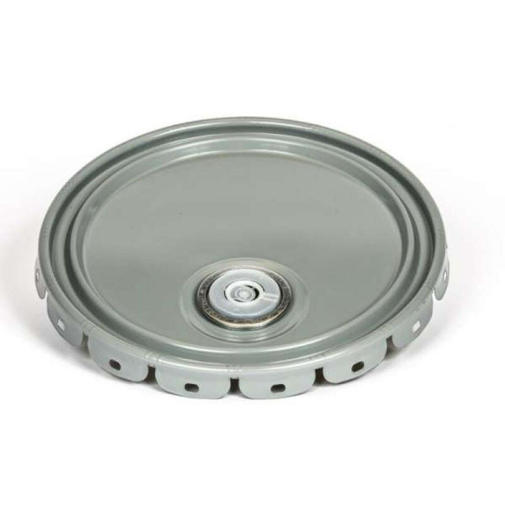 Replacement lid with pour spout for metal pails.