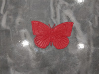 "Butterfly Accent Stamp 16"" x 12"""