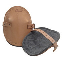 Flat Leather Knee Pads