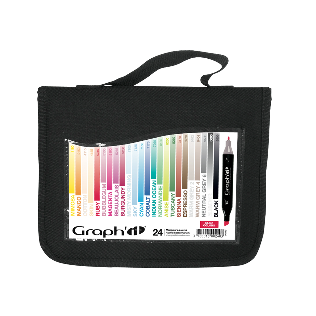 GRAPH'IT Set of 24 markers - Basic