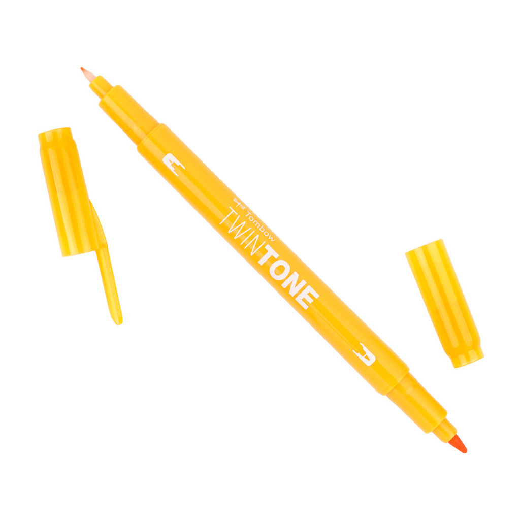 Tombow TwinTone Marker, 04 - Chrome Yellow