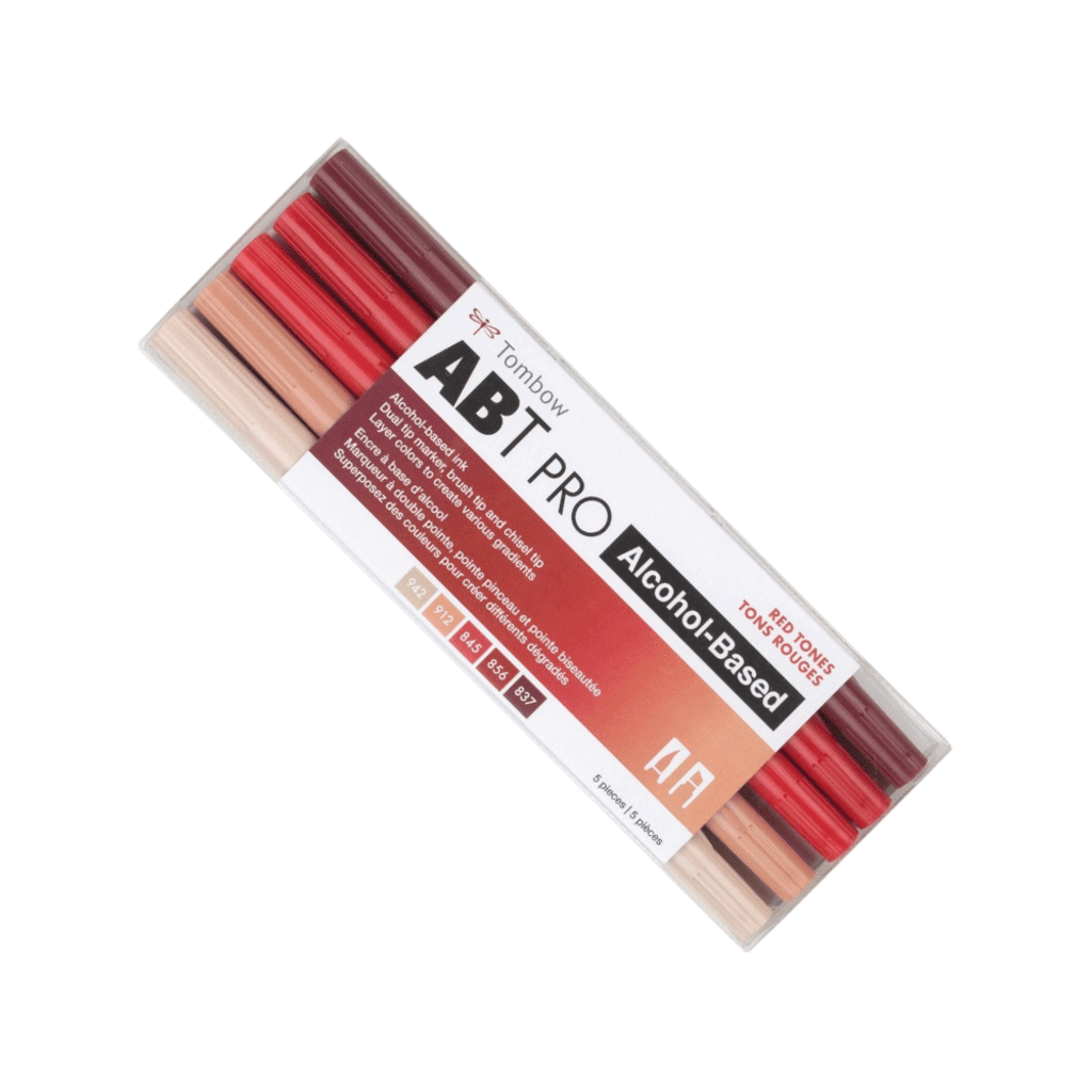 Tombow ABT PRO 5pc Set, Red Tones