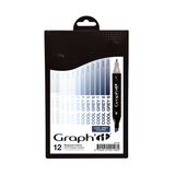 GRAPH'IT Set 12 markers - Cool Greys