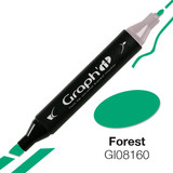 Graph'it Alcohol Chisel Marker 8160 - Forest