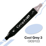 Graph'it Alcohol Chisel Marker 9103 - Cool Grey 3