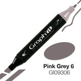 Graph'it Alcohol Chisel Marker 9306 - Pink Grey 6