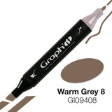 Graph'it Alcohol Chisel Marker 9408 - Warm Grey 8