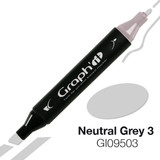 Graph'it Alcohol Chisel Marker 9503 - Neutral Grey 3