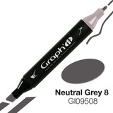 Graph'it Alcohol Chisel Marker 9508 - Neutral Grey 8