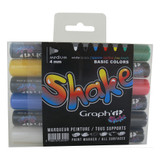 GRAPH'IT SHAKE Set of 6 Medium Markers - Basic Colors