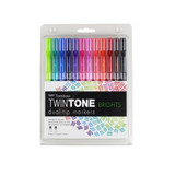 Tombow TwinTone Marker 12 Set, Bright