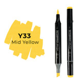 Sketchmarker Brush Pro Alcohol Marker, Mid Yellow