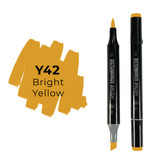 Sketchmarker Brush Pro Alcohol Marker, Bright Yellow