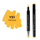 Sketchmarker Brush Pro Alcohol Marker, Yellow