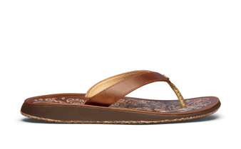 Paniolo Leather Flip-Flop Womens Natural
