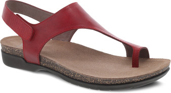 Reece Red Burnished Waxy Leather