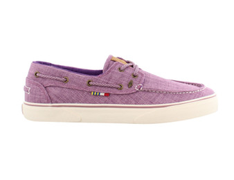 Gulf Canvas Boat Shoe Womens Purple