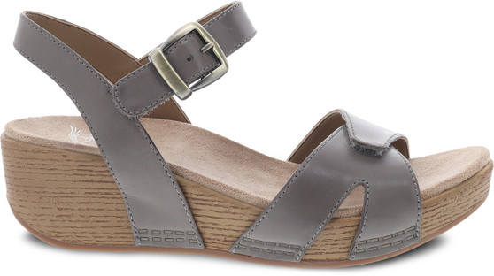 Laurie Wedge Stone Burnished Calf