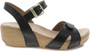 Laurie Wedge Black Burnished Calf