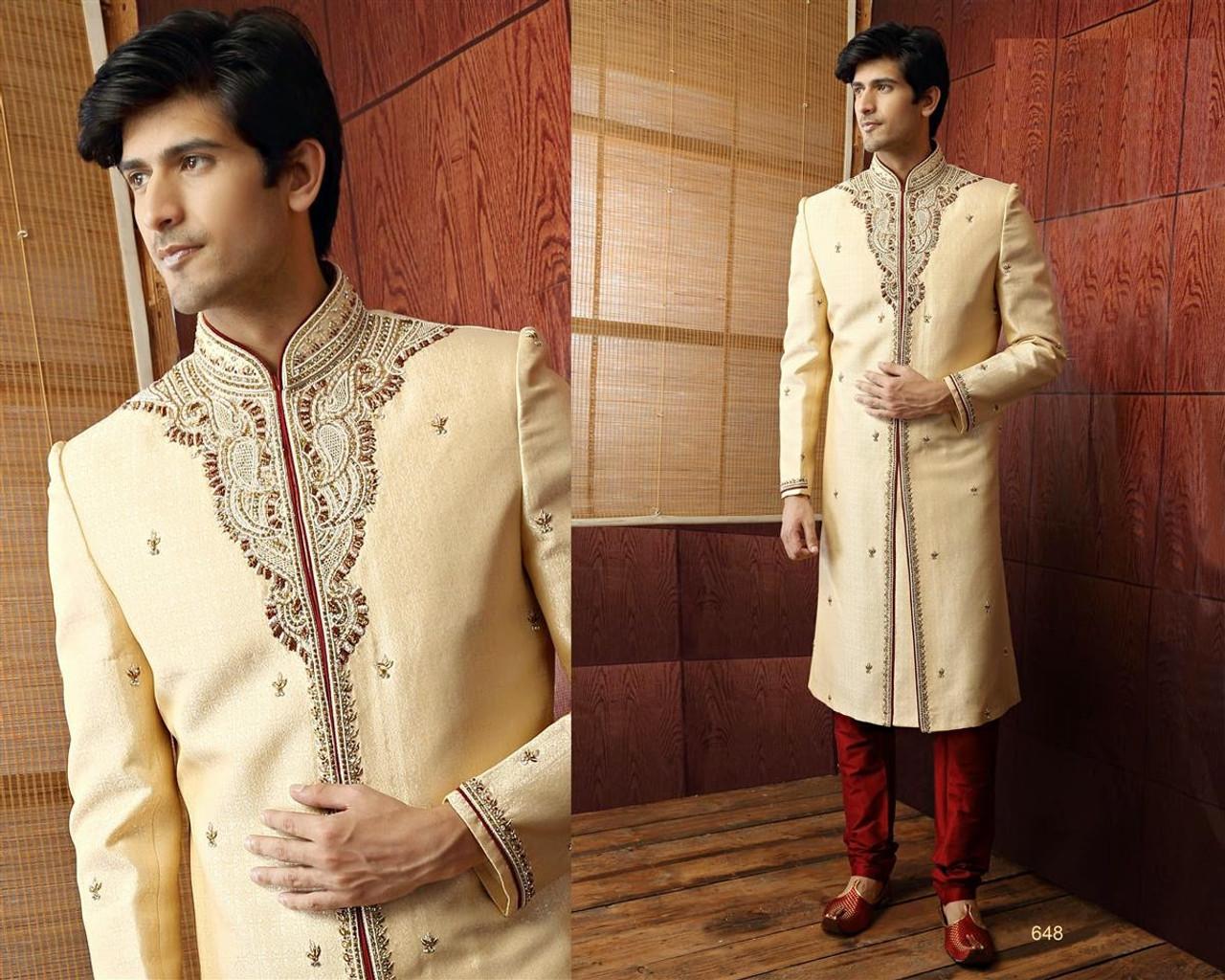 1e0adb5187 Latest Sherwani suits, New Sherwani designs, Silk Sherwani Suits ...