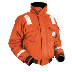 Mustang Classic Bomber Jacket w\/SOLAS Reflective Tape - Large - Orange [MJ6214T1-L-OR]