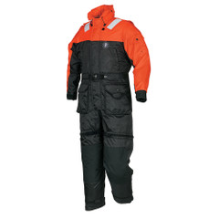 Mustang Deluxe Anti-Exposure Coverall & Worksuit - LG - Orange\/Black [MS2175-L-OR\/BK]