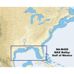 C-Map NA-M420 Gulf of Mexico Bathy Chart - C-Card [NA-M420C-CARD]