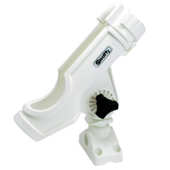 Scotty Powerlock Rod Holder White w\/241 Side\/Deck Mount [230-WH]