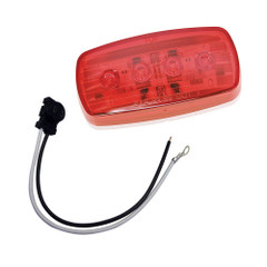 Wesbar LED Clearance\/Side Marker Light - Red #58 w\/Pigtail [401586KIT]