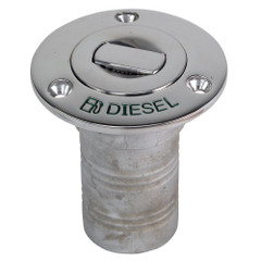 "Whitecap Bluewater Push Up Deck Fill - 1-1\/2"" Hose - Diesel [6994CBLUE]"