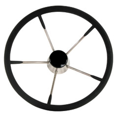 "Whitecap Destroyer Steering Wheel - Black Foam - 13-1\/2"" Diameter [S-9003B]"