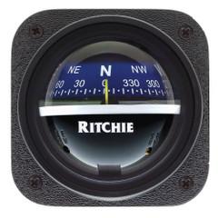 Ritchie V-537B Explorer Compass - Bulkhead Mount - Blue Dial [V-537B]