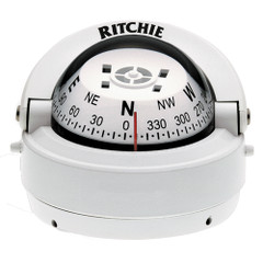 Ritchie S-53W Explorer Compass - Surface Mount - White [S-53W]