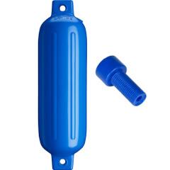 """Polyform G-3 Twin Eye Fender 5.5"""" x 19"""" - Blue w\/Air Adapter [G-3-BLUE]"""
