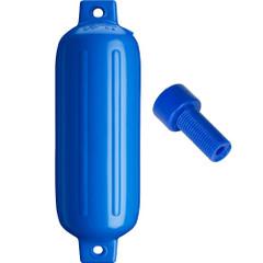 """Polyform G-4 Twin Eye Fender 6.5"""" x 22"""" - Blue w\/Air Adapter [G-4-BLUE]"""