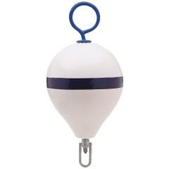 "Polyform Mooring Buoy w\/Iron 13.5"" Diameter - White Blue Stripe [CM-2 WH-STR]"