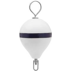 "Polyform Mooring Buoy w\/SS 13.5"" Diameter - White Blue Stripe [CM-2SS W-STR]"