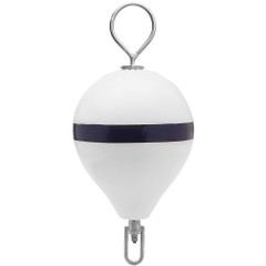 "Polyform Mooring Buoy w\/SS 17"" Diameter - White Blue Stripe [CM-3SS W-STR]"