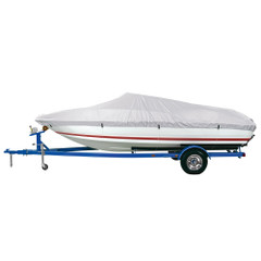 """Dallas Manufacturing Co. Reflective Polyester Boat Cover A - Fits 14'-16' V-Hull Fishing Boats - Beam Width to 68"""" [BC1301A]"""