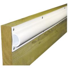 "Dock Edge Standard ""D"" PVC Profile 16ft Roll - White [1190-F]"