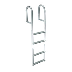 Dock Edge Welded Aluminum Fixed 4 Step Ladder [2014-F]