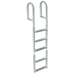 Dock Edge Welded Aluminum Fixed 5 Step Ladder [2015-F]