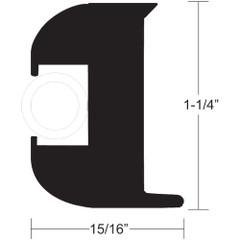 "TACO Flex Vinyl Rub Rail Kit - Black w/White Insert - 50' - 1-1/4"" x 15/16"" [V11-3447BWK50-2]"